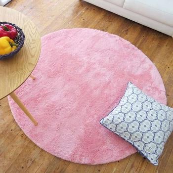 Розовый круглый ковер JumKids Sweet Pink